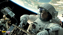 A still #10 from Gravity with Sandra Bullock