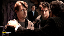 A still #8 from John Dies at the End (2012) with Rob Mayes and Chase Williamson