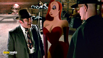 A still #1 from Who Framed Roger Rabbit (1988) with Bob Hoskins and Christopher Lloyd