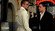 A still #8 from Ocean's Twelve with Matt Damon and Brad Pitt