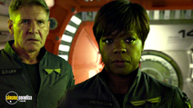 A still #5 from Ender's Game with Harrison Ford and Viola Davis