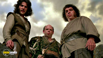 A still #5 from The Princess Bride with Wallace Shawn, Mandy Patinkin and André the Giant