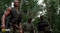 A still #1 from Predator (1987) with Bill Duke, Arnold Schwarzenegger and Carl Weathers