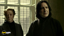 A still #9 from Harry Potter and the Half-Blood Prince with Alan Rickman and Maggie Smith