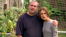 A still #16 from Bend It Like Beckham with Keira Knightley and Frank Harper