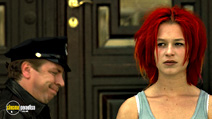 A still #17 from Run Lola Run with Franka Potente