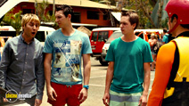 A still #18 from The Inbetweeners 2 with Joe Thomas, James Buckley and Blake Harrison