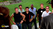 A still #15 from 2 Fast 2 Furious with Paul Walker, Tyrese Gibson and John Cenatiempo