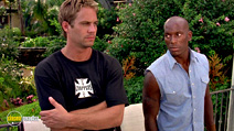 A still #14 from 2 Fast 2 Furious with Paul Walker and Tyrese Gibson