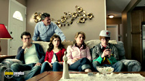 A still #3 from Rapture-Palooza (2013) with John Michael Higgins, Ana Gasteyer, Calum Worthy, John Francis Daley and Anna Kendrick