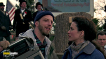 A still #14 from Groundhog Day with Andie MacDowell and Chris Elliott