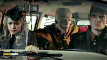 A still #17 from Iron Sky with Götz Otto, Christopher Kirby and Julia Dietze