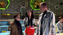 A still #23 from Spy Kids 3: Game Over with Mike Judge, Salma Hayek and Daryl Sabara