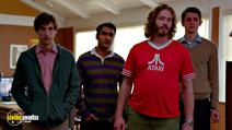 A still #23 from Silicon Valley: Series 1 with T.J. Miller, Kumail Nanjiani, Zach Woods, Thomas Middleditch and Matt Houston