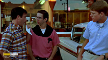 A still #19 from American Graffiti with Charles Martin Smith, Richard Dreyfuss and Ron Howard