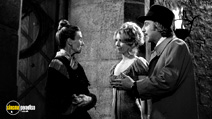 A still #32 from Young Frankenstein with Gene Wilder, Cloris Leachman and Teri Garr