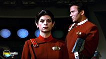 A still #28 from Star Trek 2: The Wrath of Khan with William Shatner and Kirstie Alley