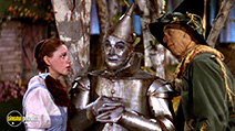A still #8 from The Wizard of Oz (1939) with Judy Garland, Ray Bolger and Jack Haley