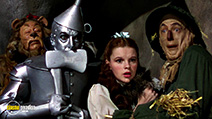 A still #3 from The Wizard of Oz (1939) with Judy Garland, Ray Bolger, Jack Haley and Bert Lahr