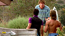 A still #17 from Point Break with Keanu Reeves, Gary Busey and Patrick Swayze
