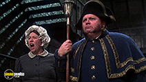 A still #28 from Oliver! with Harry Secombe and Peggy Mount