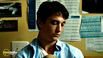A still #22 from Whiplash with Miles Teller
