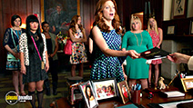 A still #45 from Pitch Perfect 2 with Brittany Snow, Rebel Wilson and Hana Mae Lee