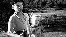 A still #9 from Forbidden Games (1952) with Brigitte Fossey and Georges Poujouly