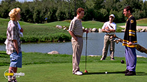A still #13 from Happy Gilmore with Christopher McDonald and Adam Sandler