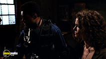 A still #5 from Saw 3 with Dina Meyer and Lyriq Bent