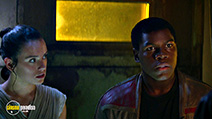 A still #8 from Star Wars: The Force Awakens with John Boyega and Daisy Ridley