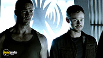 A still #8 from Killjoys: Series 1 (2015) with Luke MacFarlane and Aaron Ashmore