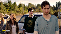 A still #3 from Cabin Fever (2016) with Samuel Davis, Nadine Crocker, Gage Golightly and Matthew Daddario