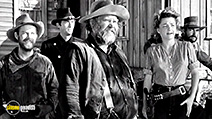 A still #2 from Yellow Sky (1948) with Harry Morgan, John Russell, Gregory Peck, Anne Baxter and Charles Kemper