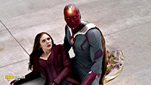 A still #3 from Captain America: Civil War (2016) with Paul Bettany and Elizabeth Olsen
