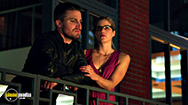 A still #8 from Arrow: Series 4 (2015) with Stephen Amell and Emily Bett Rickards