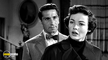 A still #2 from Whirlpool (1950) with Richard Conte and Gene Tierney