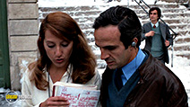 A still #6 from Day for Night (1973) with François Truffaut and Nathalie Baye