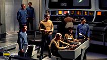 A still #7 from Star Trek: The Original Series: Origins (1988) with Leonard Nimoy, Jeffrey Hunter and John Hoyt