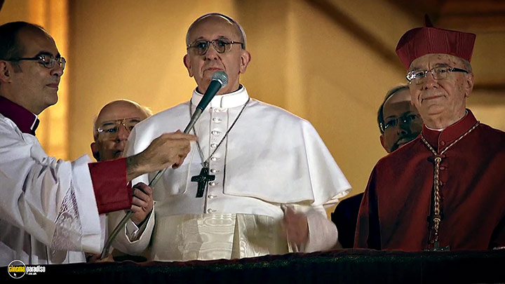A still #10 from Pope Francis: A Man of His Word (2018)