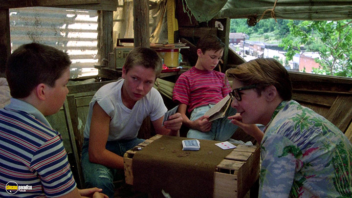 A still #17 from Stand by Me (1986) With Corey Feldman, Wil Wheaton And River Phoenix