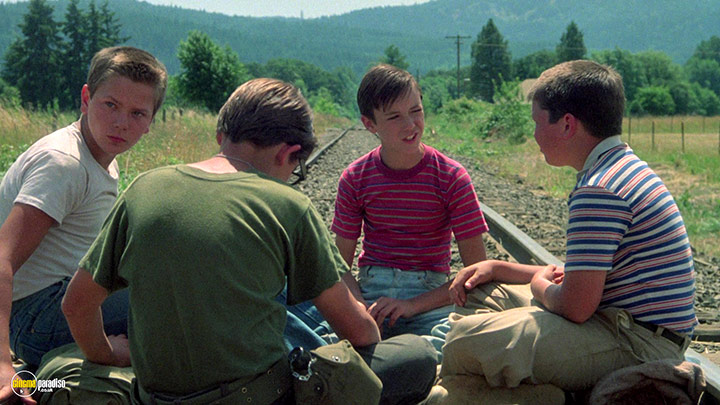 A still #14 from Stand by Me (1986) With Wil Wheaton And River Phoenix