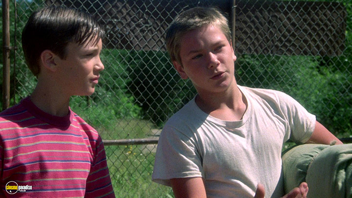 A still #13 from Stand by Me (1986) With Wil Wheaton And River Phoenix