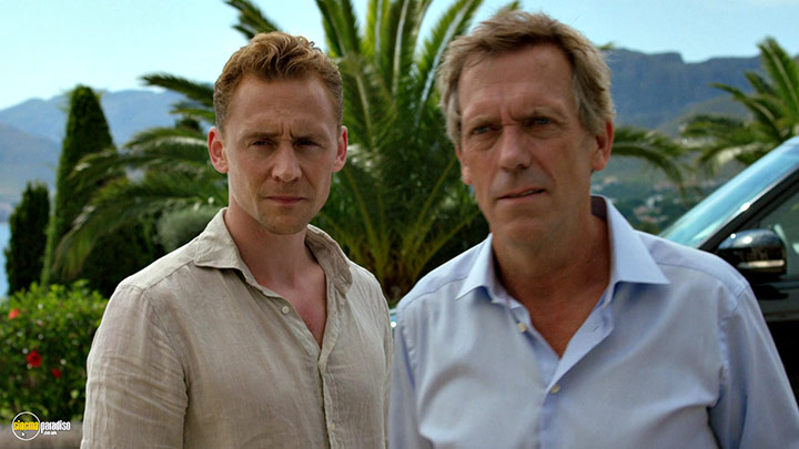 A still #38 from The Night Manager (2016) With Hugh Laurie And Tom Hiddleston